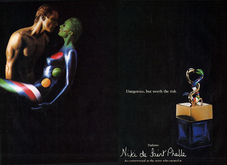 niki de saint phalle 1982 perfume ad